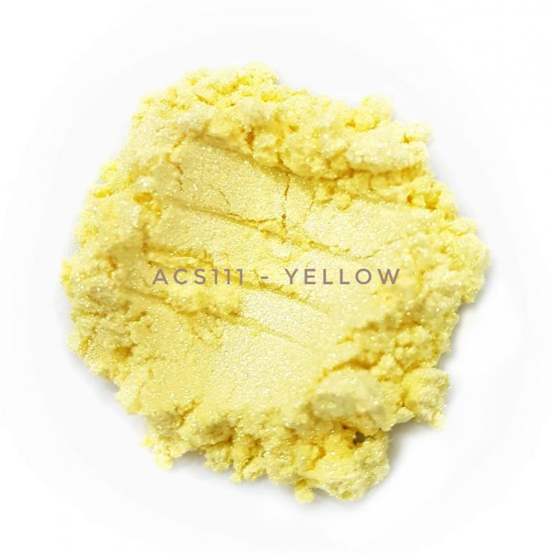 Косметический пигмент ACS111 Yellow (Желтый), 10-60 мкм