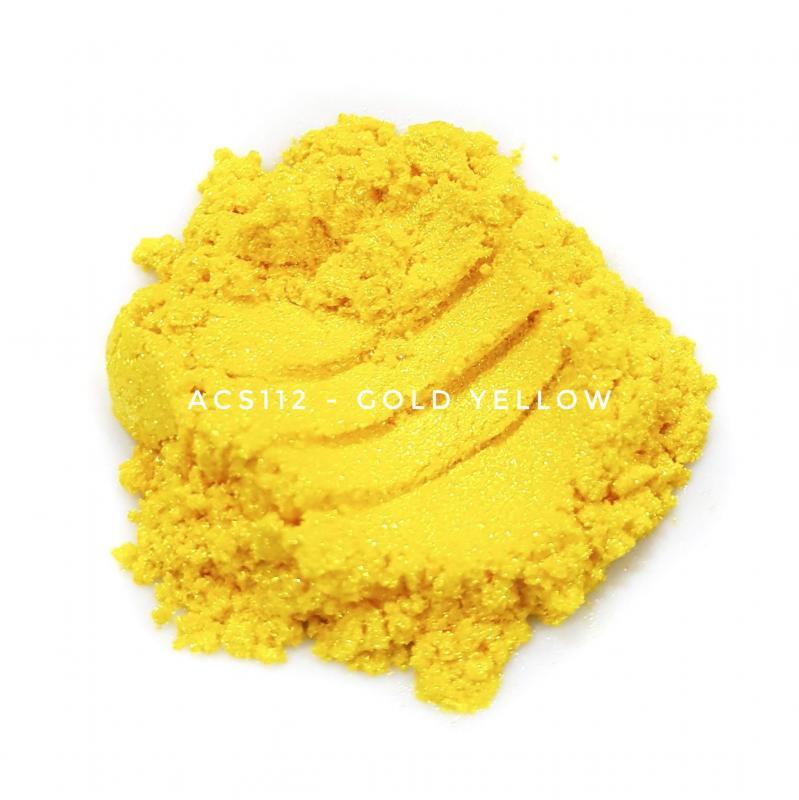 Косметический пигмент ACS112 Gold Yellow (Золотистый), 10-60 мкм