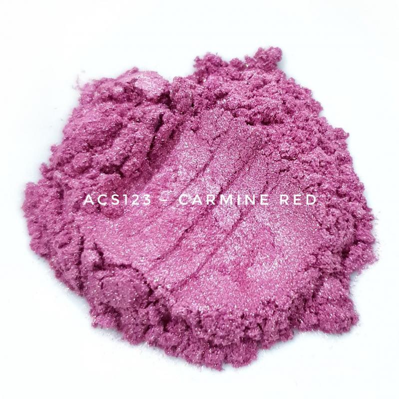Косметический пигмент ACS123 Carmine Red (Карминно-красный), 10-60 мкм
