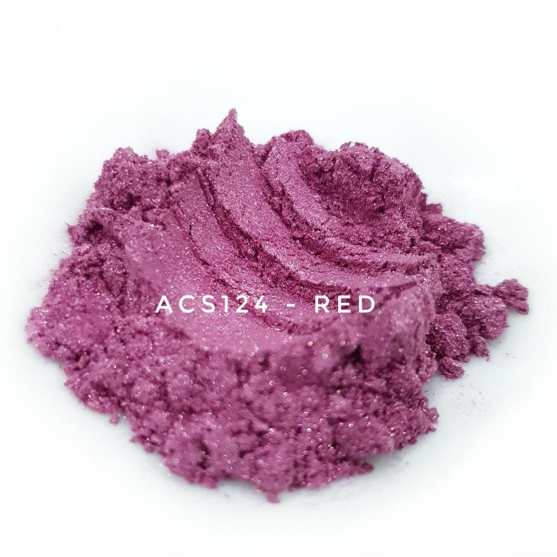 Косметический пигмент ACS124 Red (Красный), 10-60 мкм