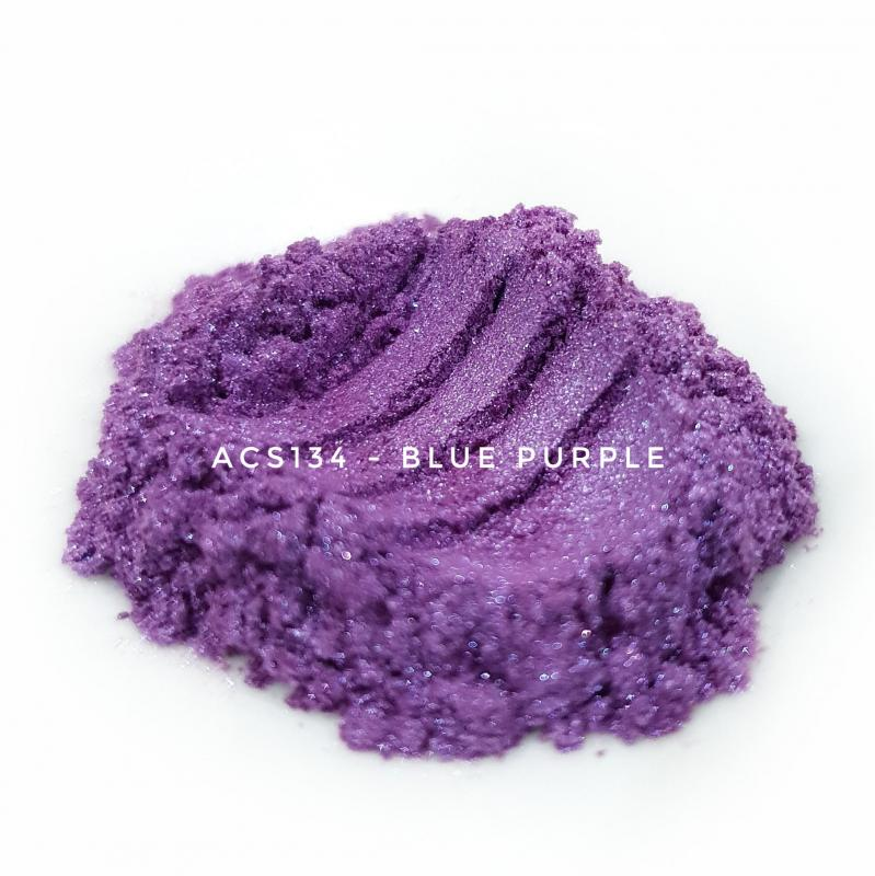 Косметический пигмент ACS134 Blue Purple (Сине-пурпурный), 10-60 мкм