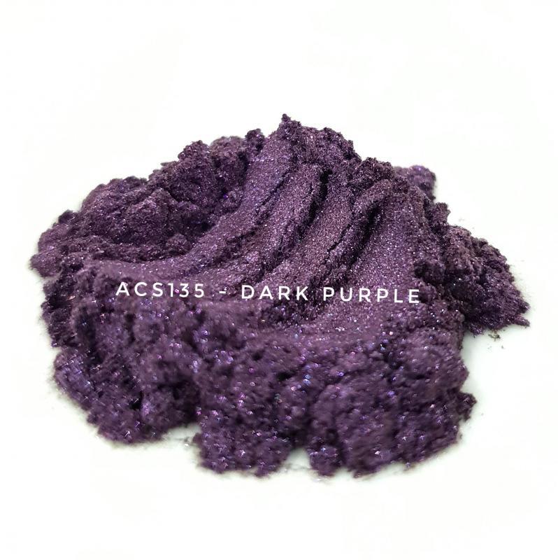 Косметический пигмент ACS135 Dark purple (Темно-пурпурный), 10-60 мкм