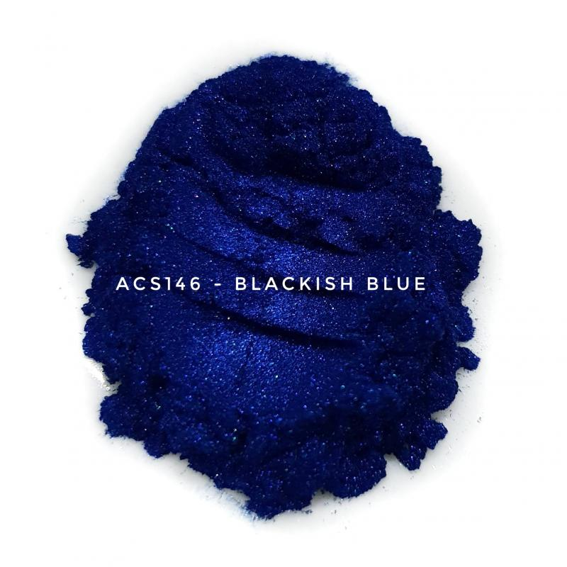 Косметический пигмент ACS146 Blackish Blue (Черно-синий), 10-60 мкм
