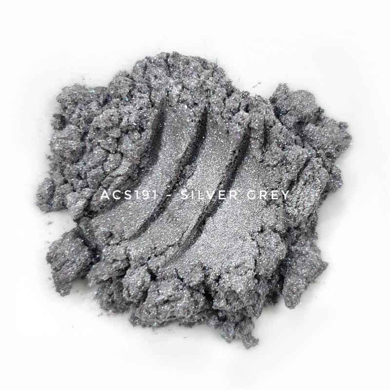 Косметический пигмент ACS191 Silver Grey (Серебристо-серый), 10-60 мкм
