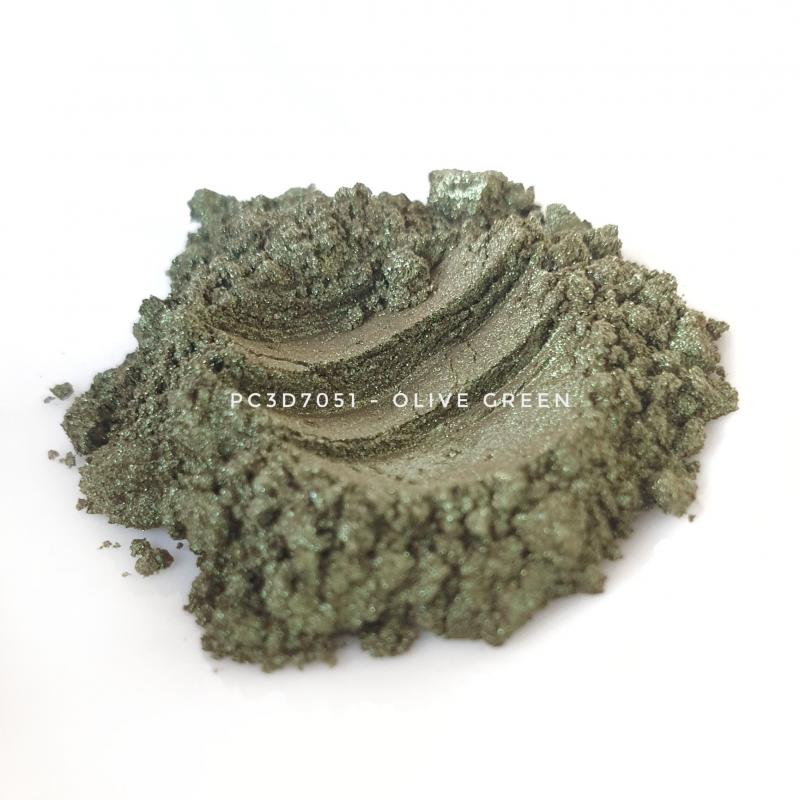 Косметический пигмент PC3D7051 Green Gold (Зеленое золото), 10-60 мкм
