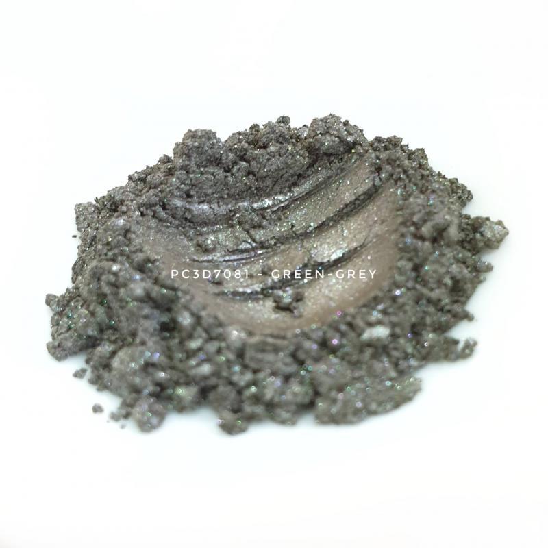 Косметический пигмент PC3D7081 Silver Green (Серебристо зеленый), 10-60 мкм