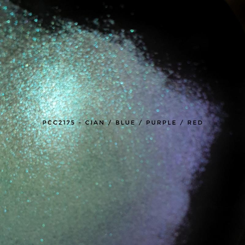 Косметический пигмент PCC2175 cyan/blue/purple/red (Синий/фиолетовый/красный), 75-175 мкм
