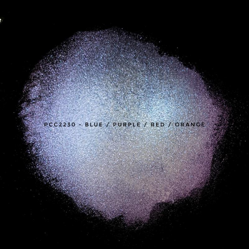 Косметический пигмент PCC2230 blue/purple/red/orange (Синий/фиолетовый/красный/оранжевый), 25-130 мкм