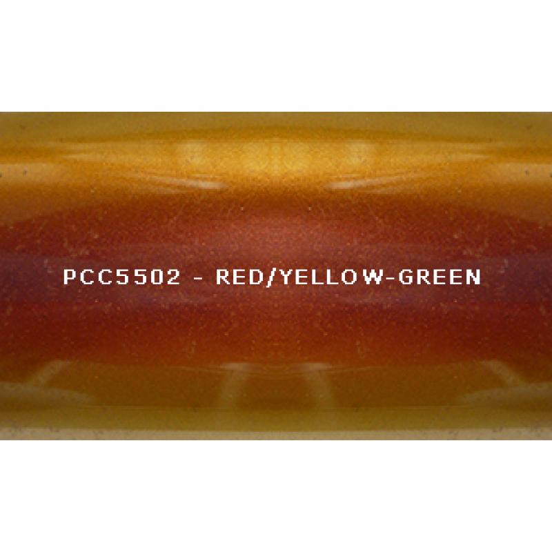 Косметический пигмент PCC5502 red/orange/yellow/yellow-green (Красный/оранжевый/желтый/желто-зеленый), 5-25 мкм