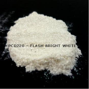 Перламутровый пигмент PCD220 - Вспыхивающий ярко-белый, 20-100 мкм (Flash Bright White)