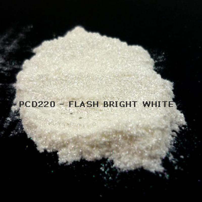 Косметический пигмент PCD220 Flash Bright White (Вспыхивающий ярко-белый), 20-100 мкм