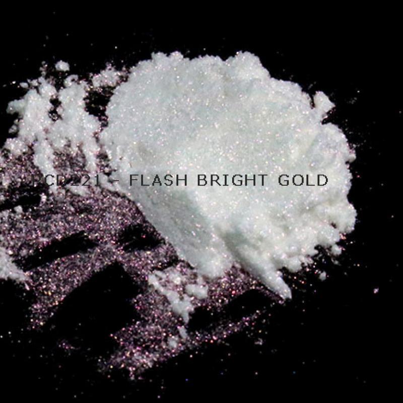 Косметический пигмент PCD221 Flash Bright Gold (Вспыхивающий ярко-золотой), 20-100 мкм