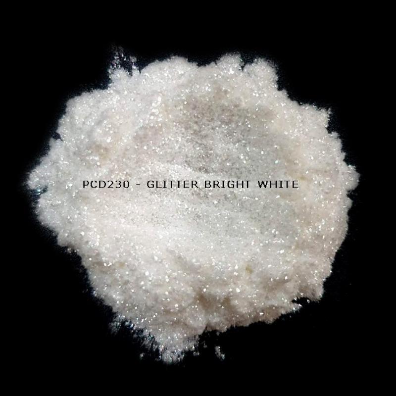 Косметический пигмент PCD230 Glitter Bright White (Блестки ярко-белые), 30-150 мкм
