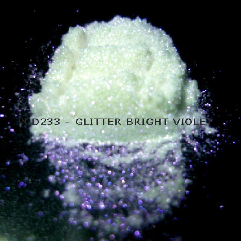 Косметический пигмент PCD233 Glitter Bright violet (Блестки ярко-фиолетовые), 30-150 мкм