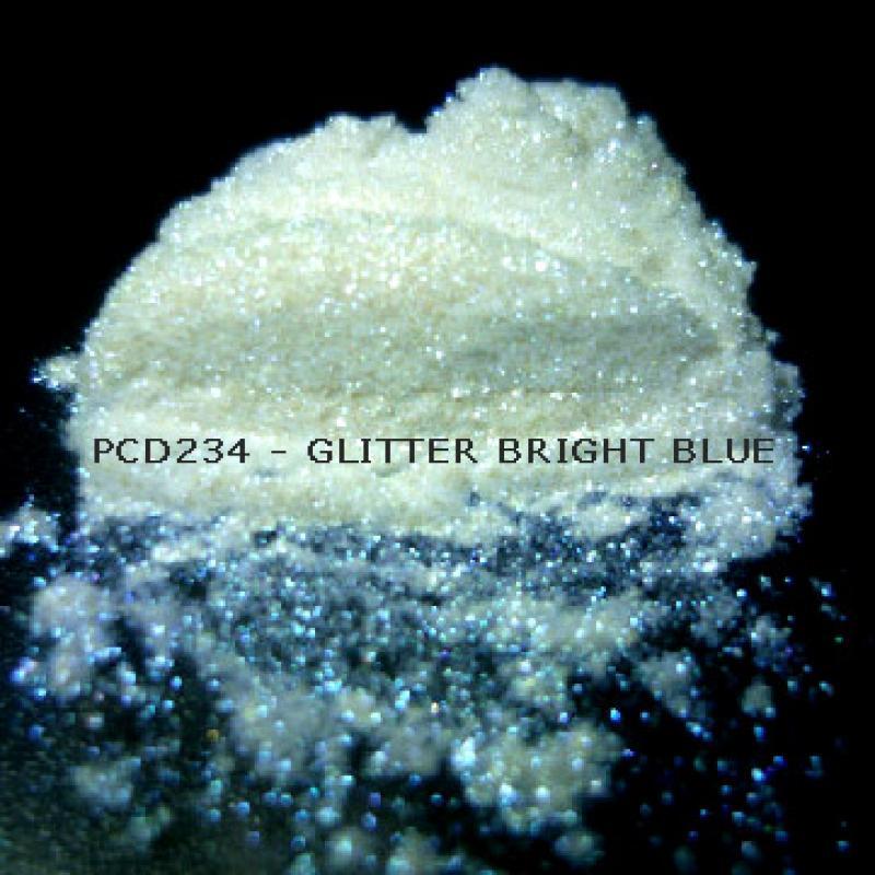 Косметический пигмент PCD234 Glitter Bright Blue (Блестки ярко-синие), 30-150 мкм