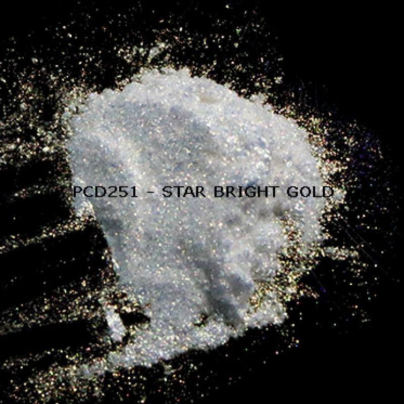 Косметический пигмент PCD251 Star Bright Gold (Звездный ярко-золотой), 50-300 мкм