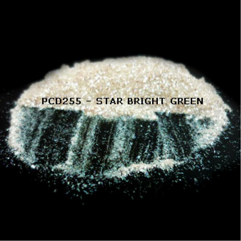 Косметический пигмент PCD255 Star Bright Green (Звездный ярко-зеленый), 50-300 мкм