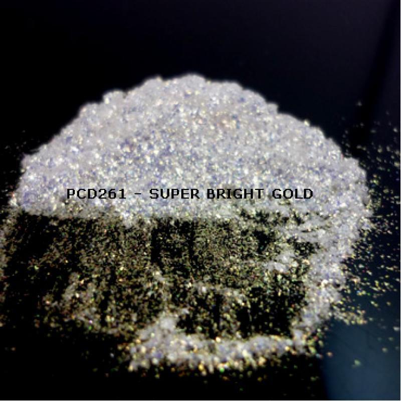 Косметический пигмент PCD261 Super Bright Gold (Сверх ярко-золотой), 60-400 мкм