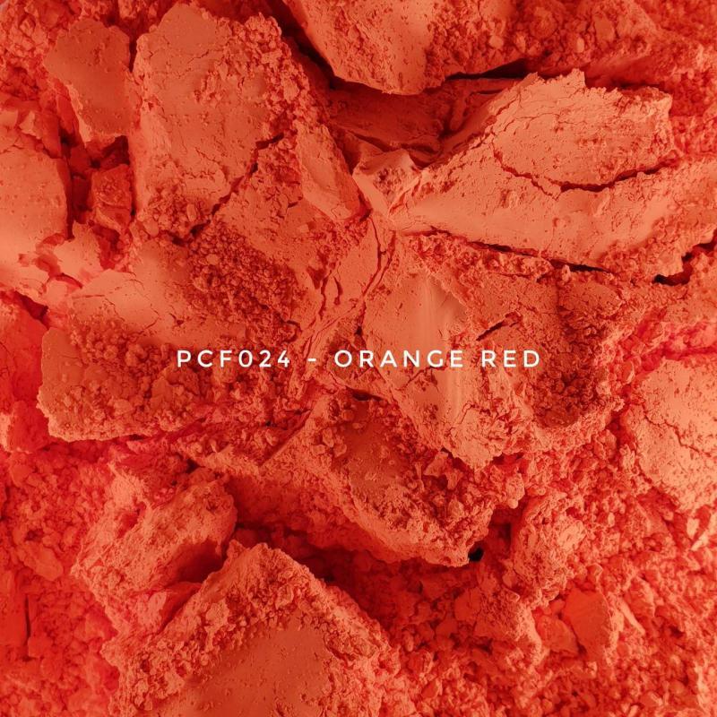Косметический пигмент PCF024 Orange Red (Оранжево-красный), 1-2 мкм