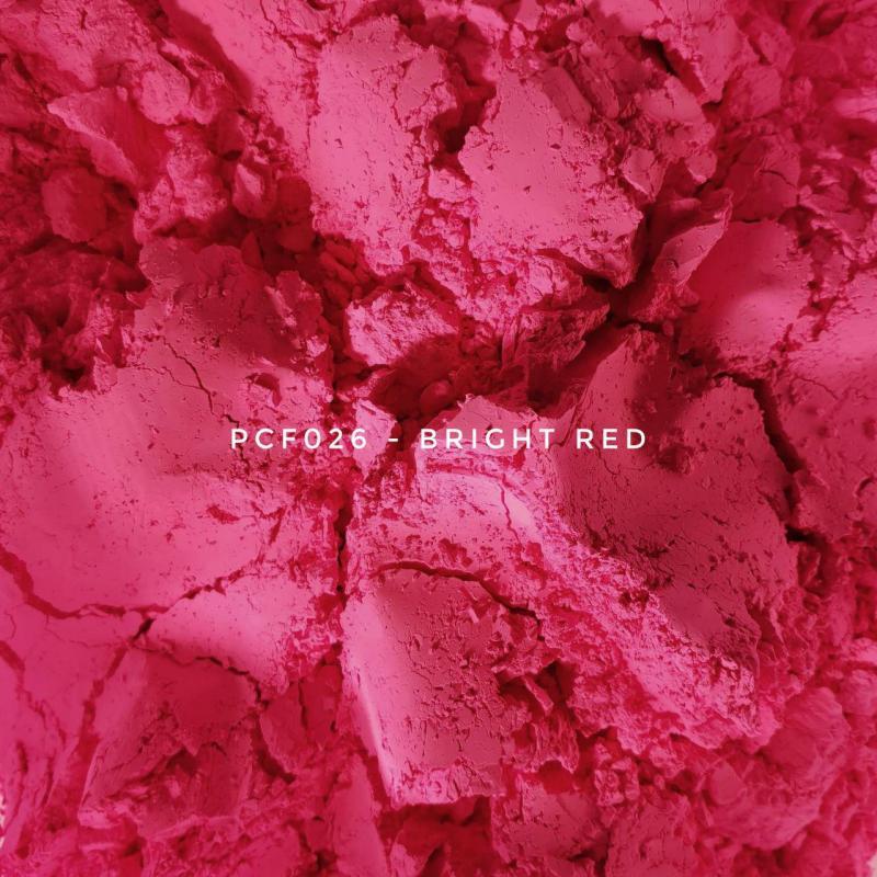 Косметический пигмент PCF026 Bright Red (Ярко-красный), 1-2 мкм