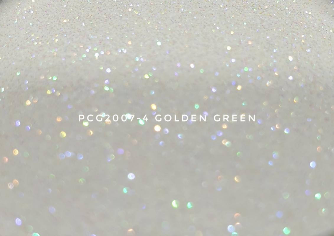 Косметический глиттер PCG2007-100 Golden green (Золотисто-зеленый), 100-100 мкм