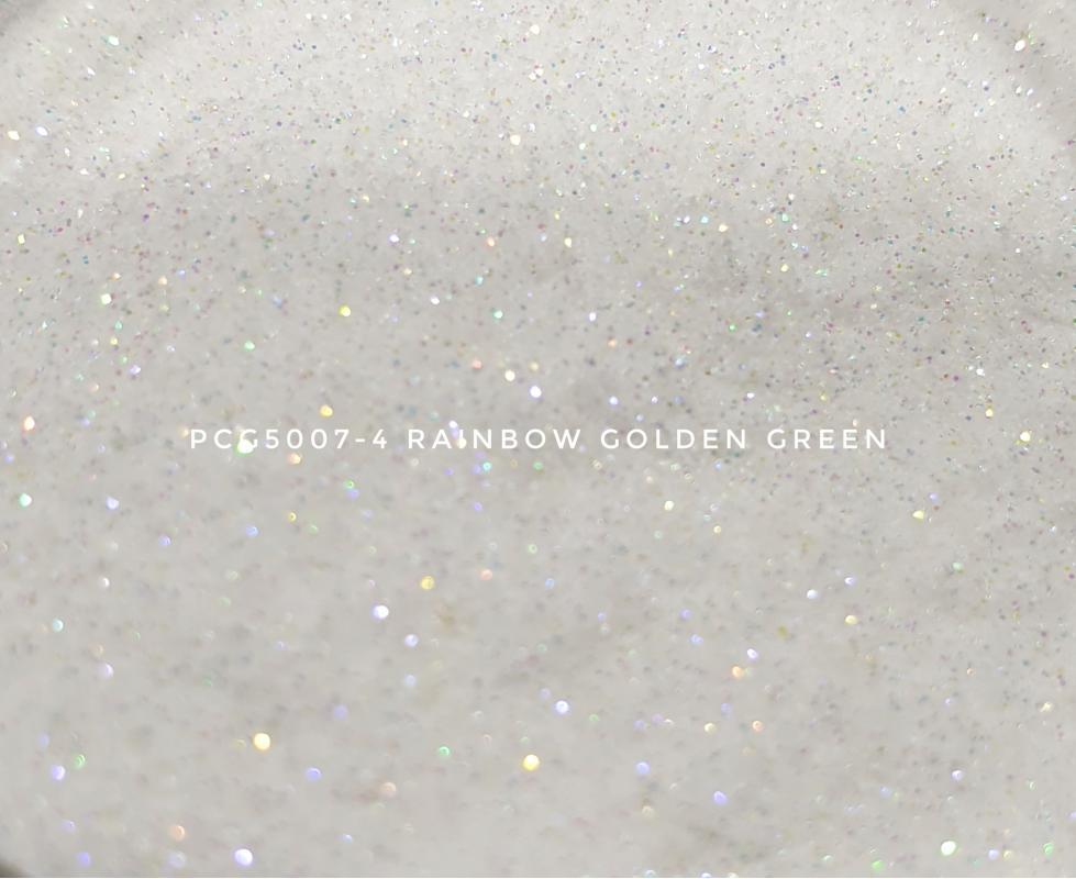 Косметический глиттер PCG5007-100 Rainbow Golden Green (Радужный золотисто-зеленый), 100-100 мкм