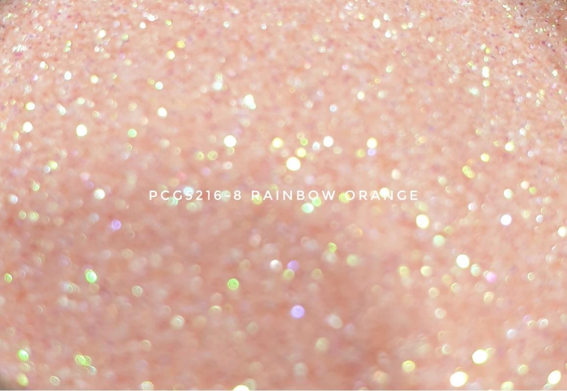Косметический глиттер PCG5216-200 Rainbow Orange (Радужный оранжевый), 200-200 мкм
