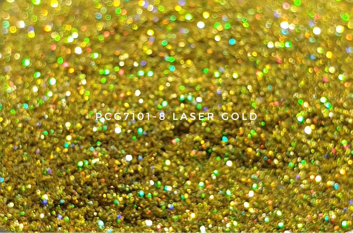 Косметический глиттер PCG7101-200 Laser Gold (Голографический золотой), 200-200 мкм
