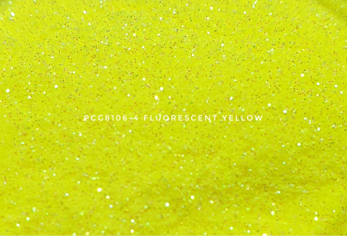 Косметический глиттер PCG8106-100 Fluorescent Yellow (Флуоресцентный желтый), 100-100 мкм
