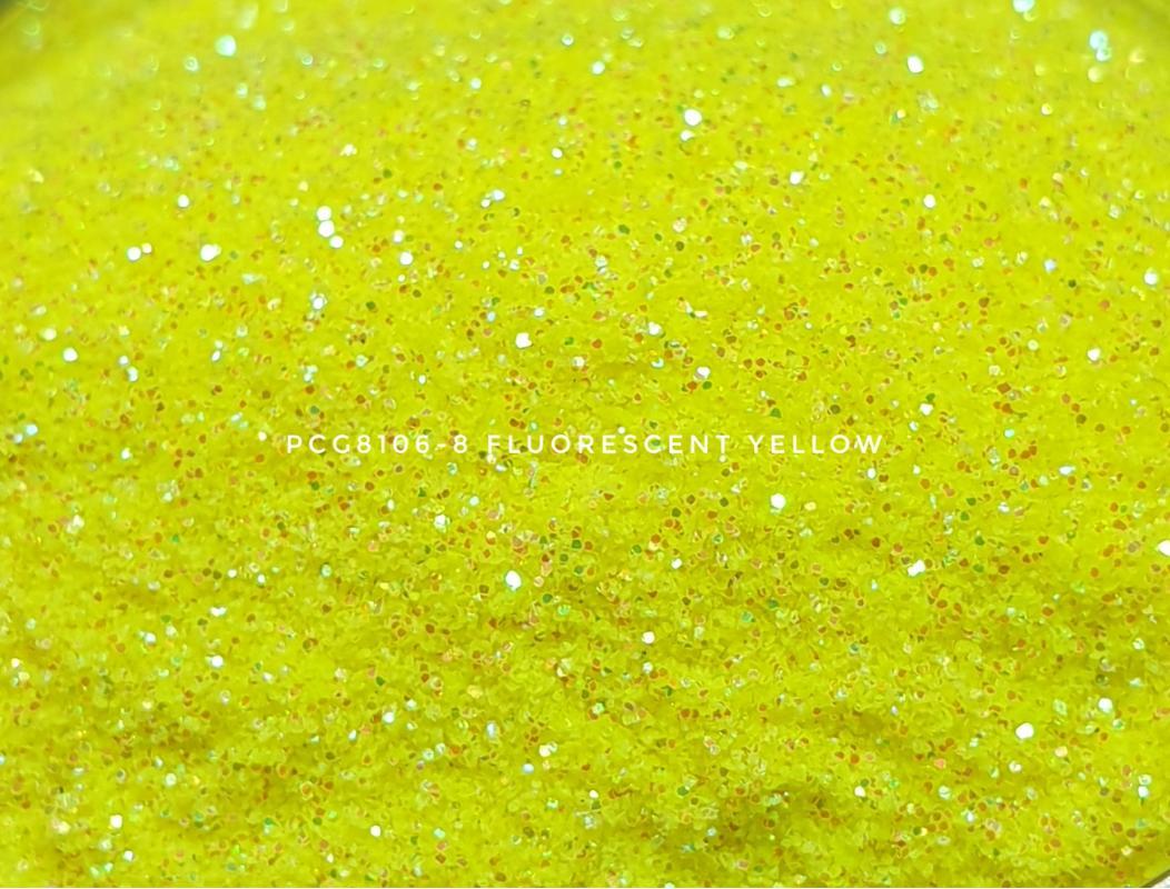 Косметический глиттер PCG8106-200 Fluorescent Yellow (Флуоресцентный желтый), 200-200 мкм