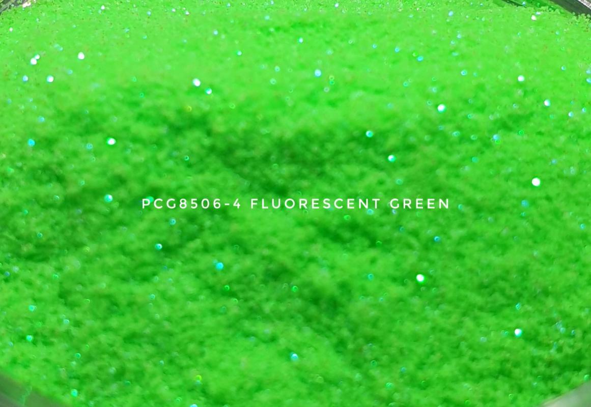 Косметический глиттер PCG8506-100 Fluorescent Green (Флуоресцентный зеленый глиттер), 100-100 мкм