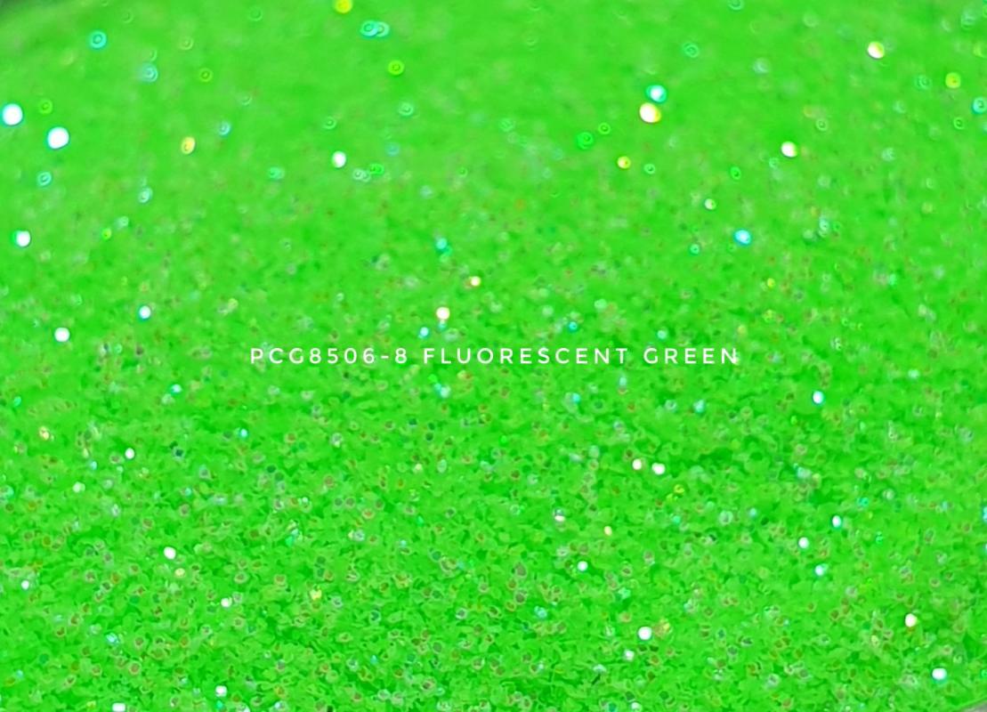 Косметический глиттер PCG8506-200 Fluorescent Green (Флуоресцентный зеленый глиттер), 200-200 мкм