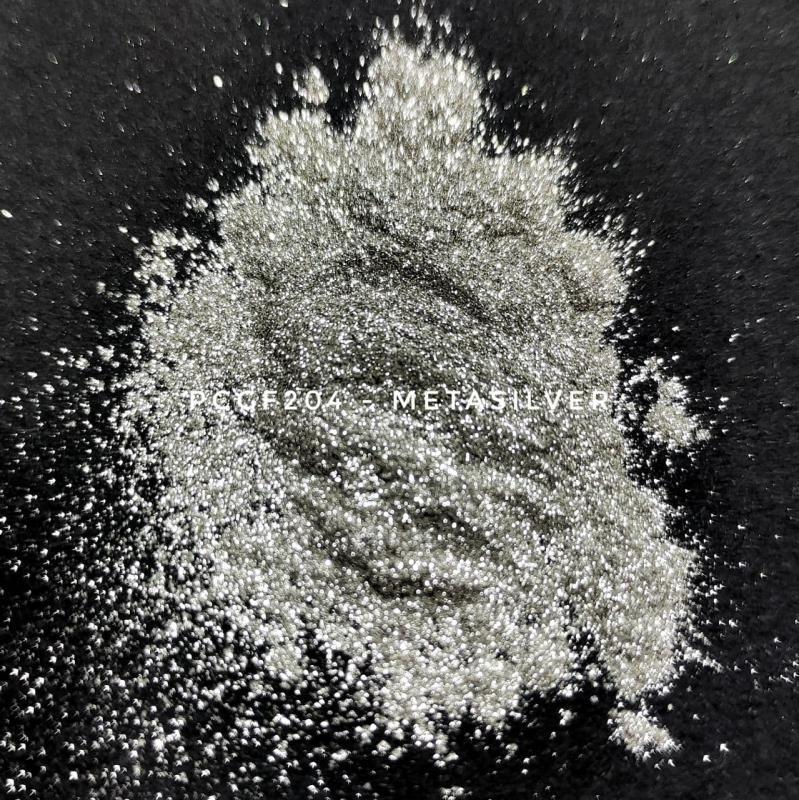 Косметический пигмент PCGF204 Silver Flake (Серебряный флейк), 10-100 мкм