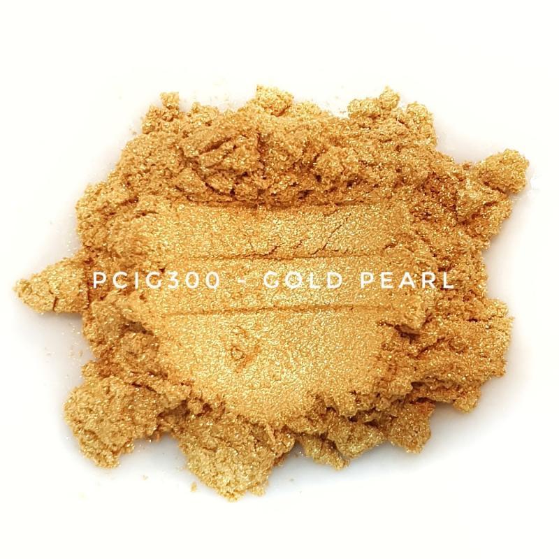 Косметический пигмент PCIG300 Gold Pearl (Золотой перламутр), 10-60 мкм