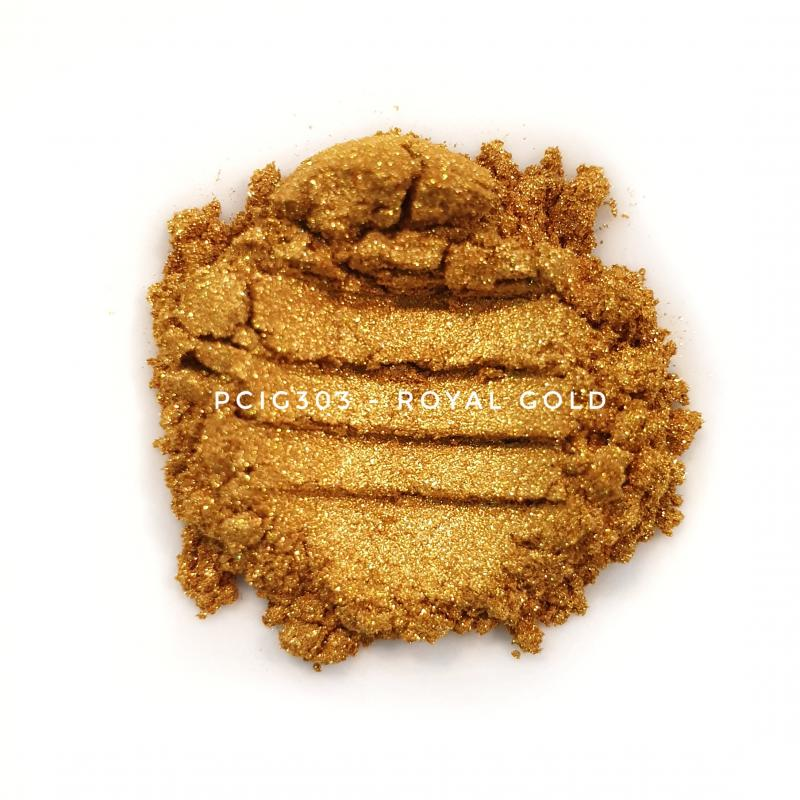 Косметический пигмент PCIG303 Royal Gold (Королевское золото), 10-60 мкм