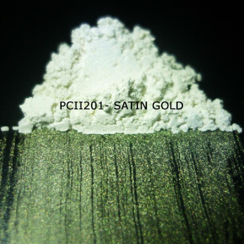 Косметический пигмент PCII201 Satin Gold (Атласное золото), 5-25 мкм