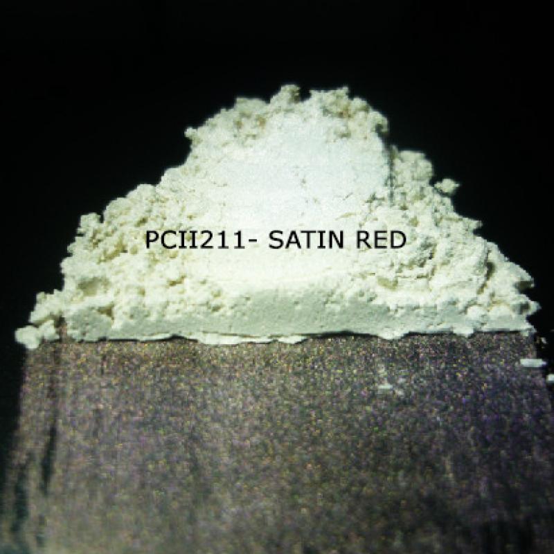 Косметический пигмент PCII211 Satin Red (Атласный красный), 5-25 мкм