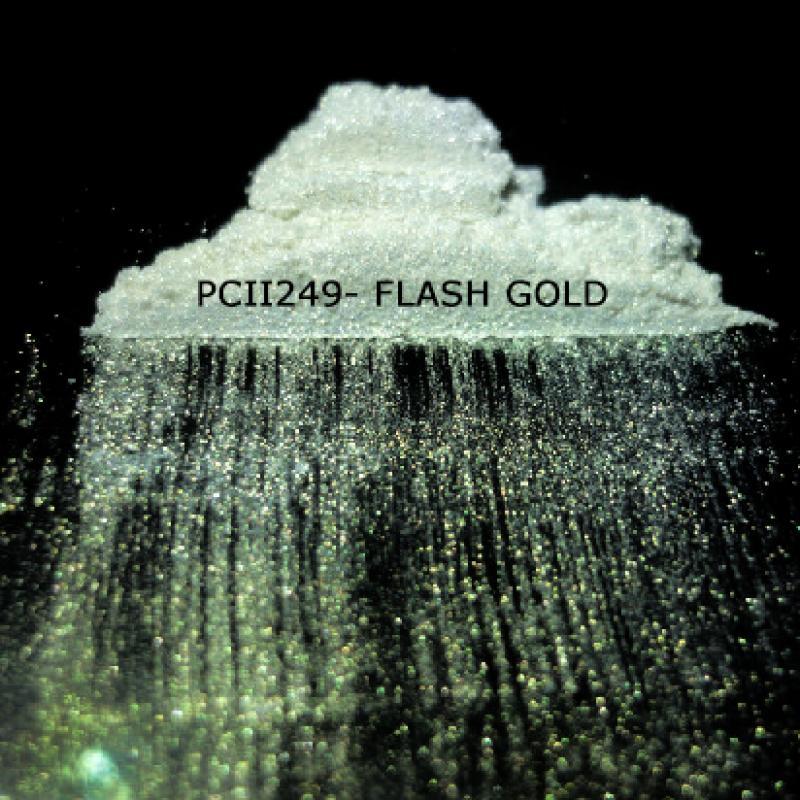 Косметический пигмент PCII249 Flash Gold (Вспыхивающий золотой), 10-100 мкм