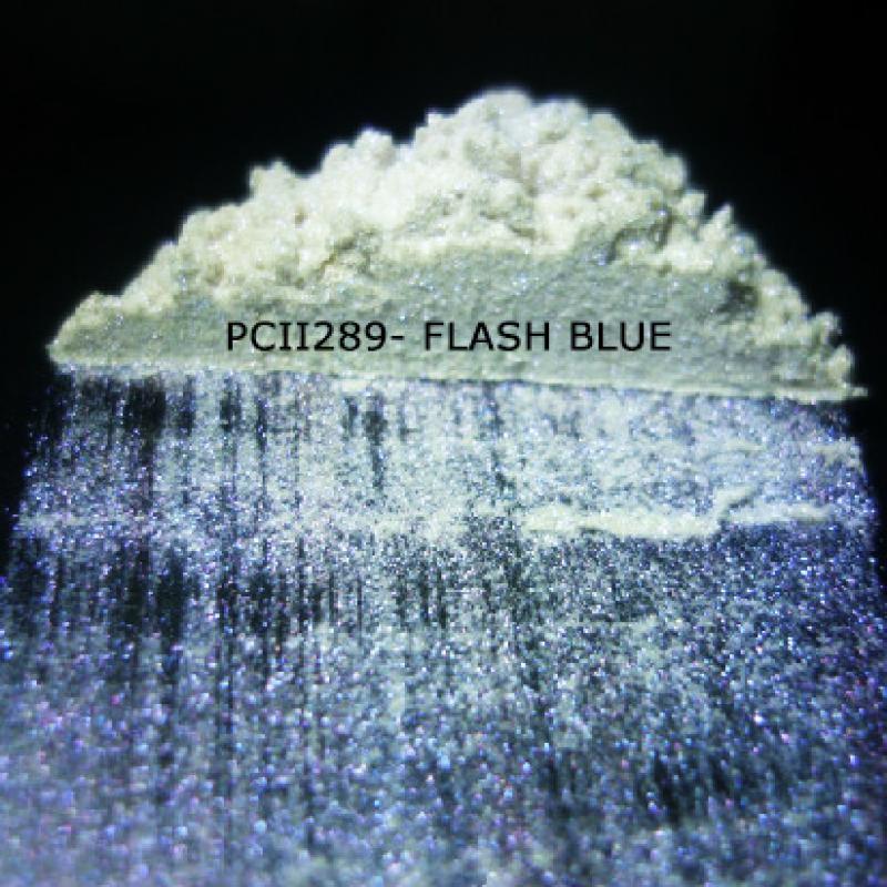 Косметический пигмент PCII289 Flash Blue (Вспыхивающий голубой), 10-100 мкм