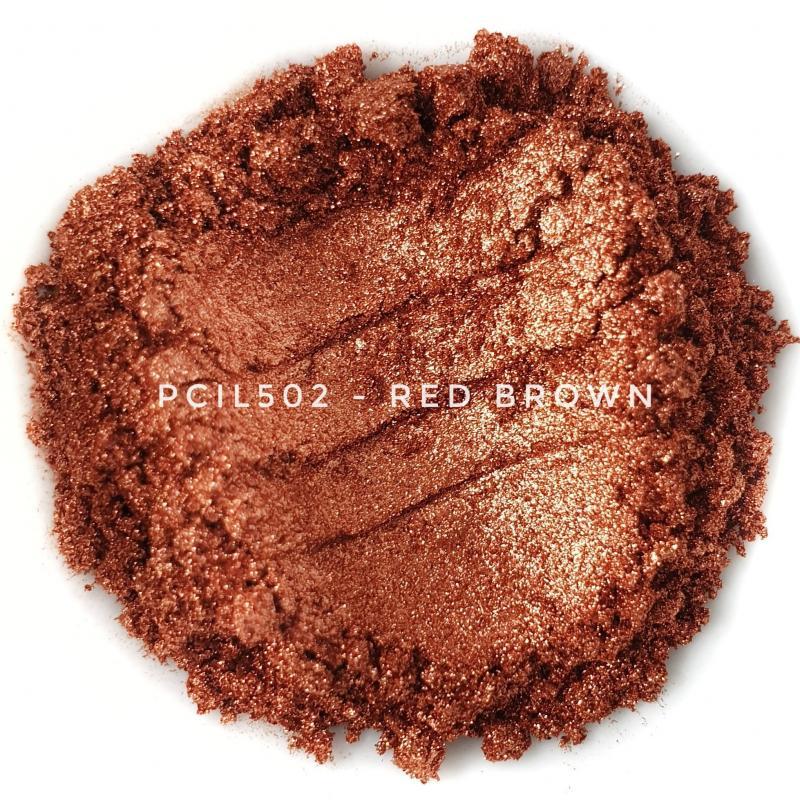 Косметический пигмент PCIL502 Red Brown (Красно-коричневый), 10-60 мкм