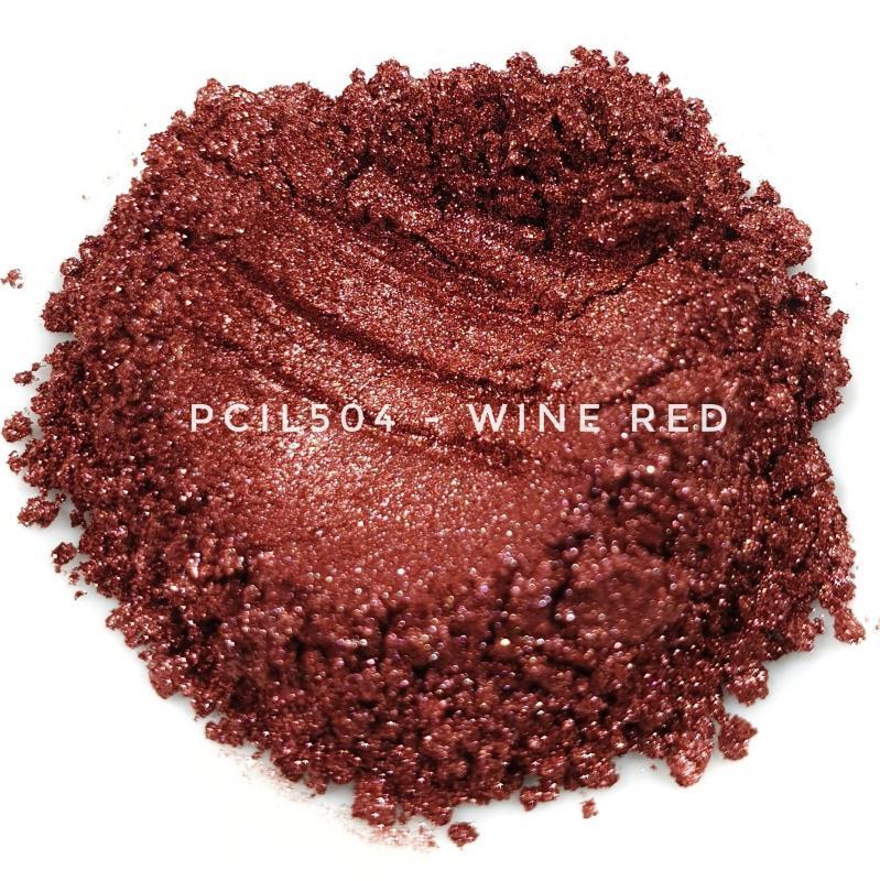 Косметический пигмент PCIL504 Wine Red (Винно-красный), 10-60 мкм