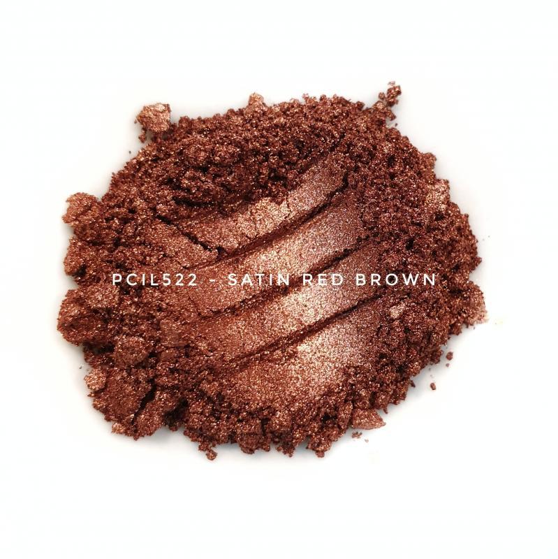 Косметический пигмент PCIL522 Satin Red Brown (Атласный красно-коричневый), 5-25 мкм