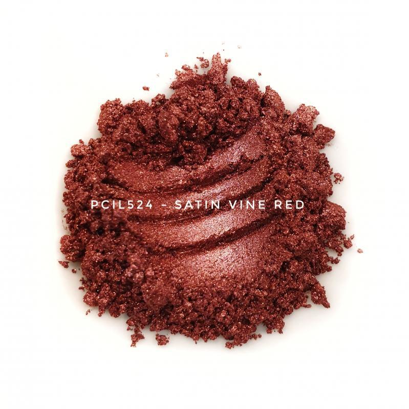 Косметический пигмент PCIL524 Satin Wine Red (Атласный винно-красный), 5-25 мкм