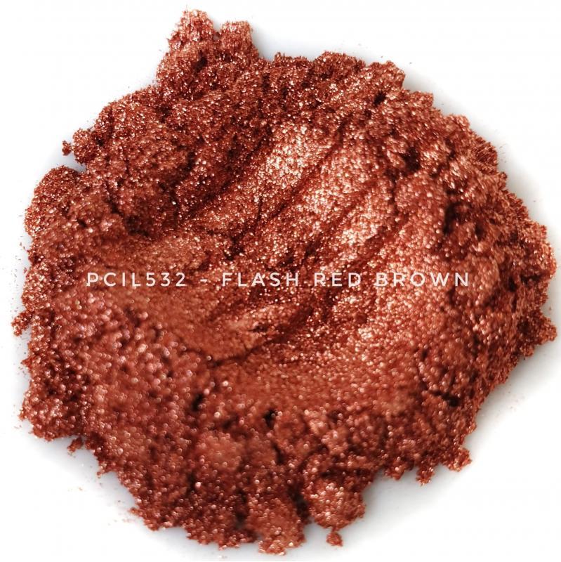 Косметический пигмент PCIL532 Flash Red Brown (Вспыхивающий красно-коричневый), 10-100 мкм