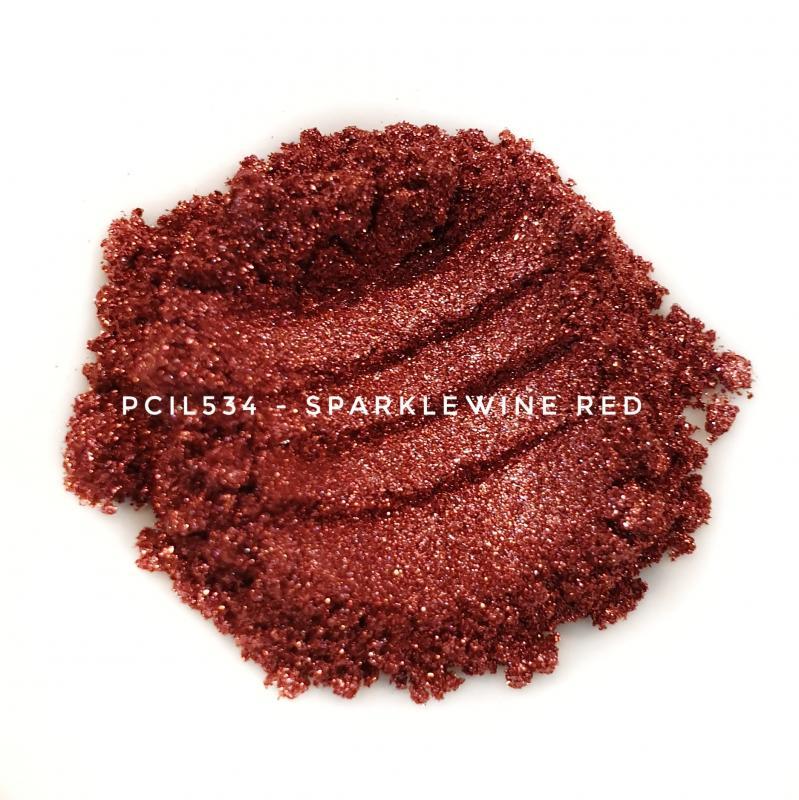 Косметический пигмент PCIL534 Flash Wine Red (Вспыхивающий винно-красный), 10-100 мкм