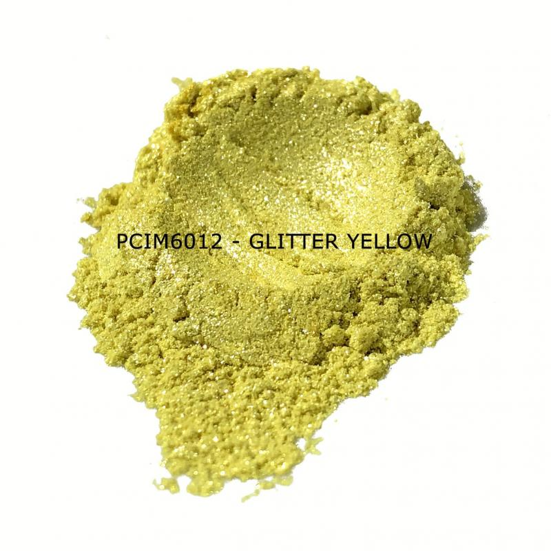 Косметический пигмент PCIM6012 Glitter Yellow (Блестки желтые), 30-150 мкм