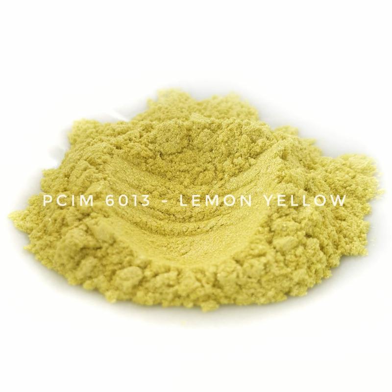 Косметический пигмент PCIM6013 Lemon Yellow (Лимонно-желтый), 10-60 мкм