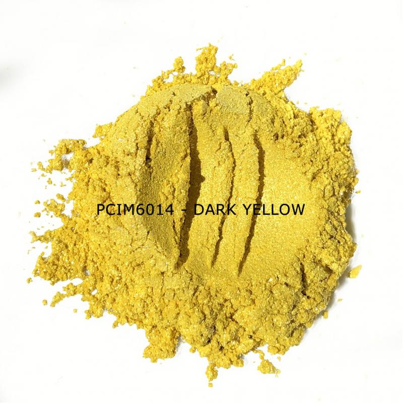 Косметический пигмент PCIM6014 Dark Yellow (Темно-желтый), 10-60 мкм