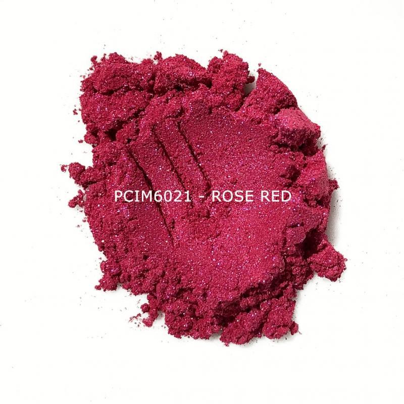 Косметический пигмент PCIM6021 Rose Red (Розово-красный), 10-60 мкм