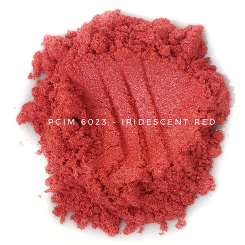 Косметический пигмент PCIM6023 Iridescent Red (Радужный красный), 10-60 мкм